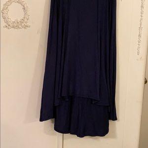 Navy hi-lo knit maxi skirt. SZ XXL. NWOT